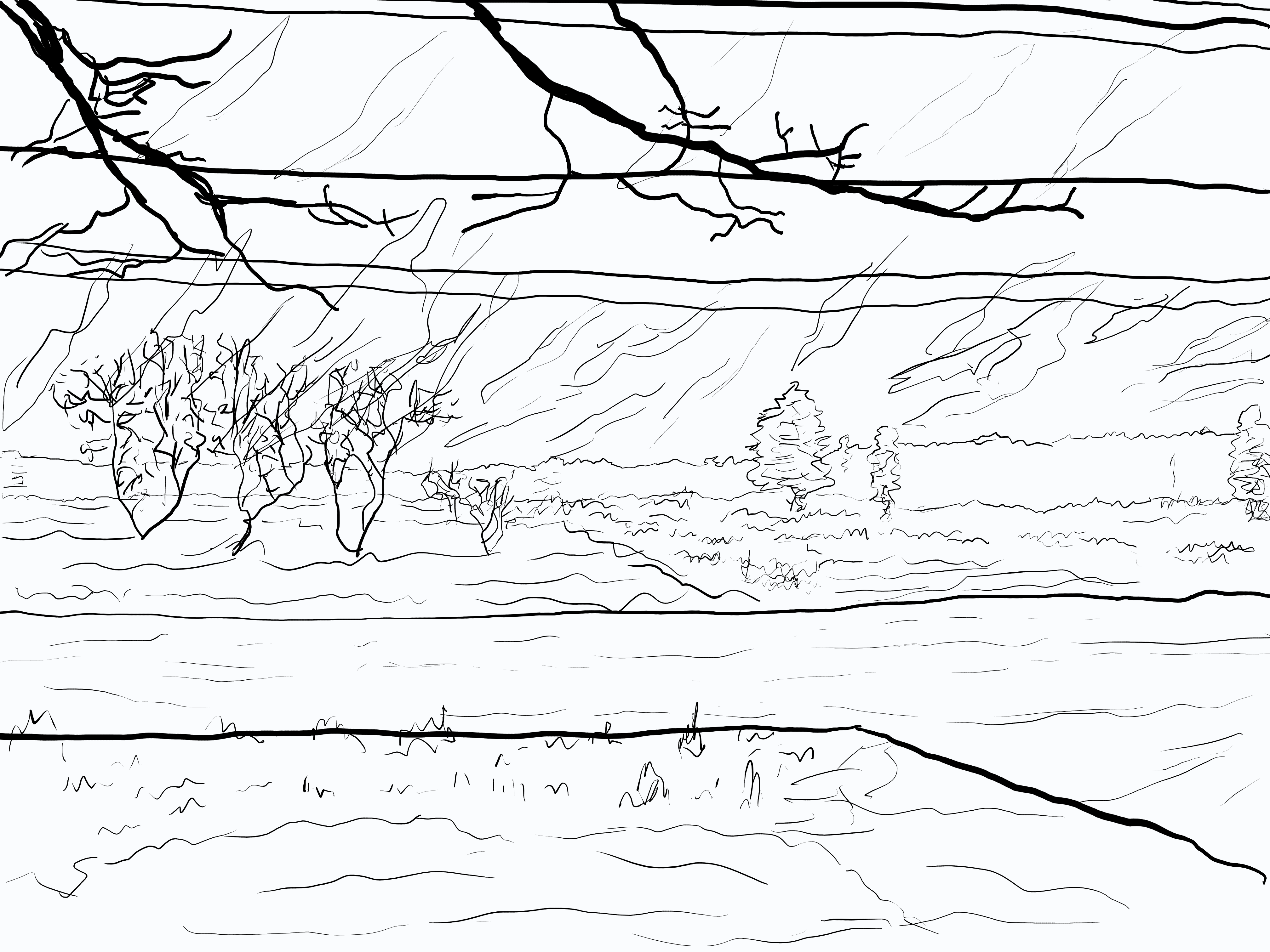 Scenery sketch